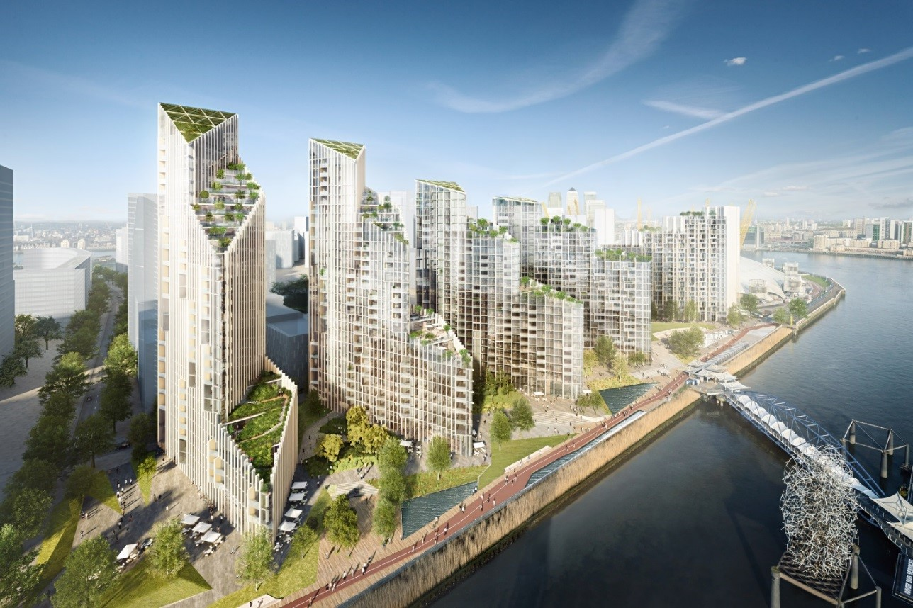 Mace Tops Out At Greenwich Peninsula S Upper Riverside Mace
