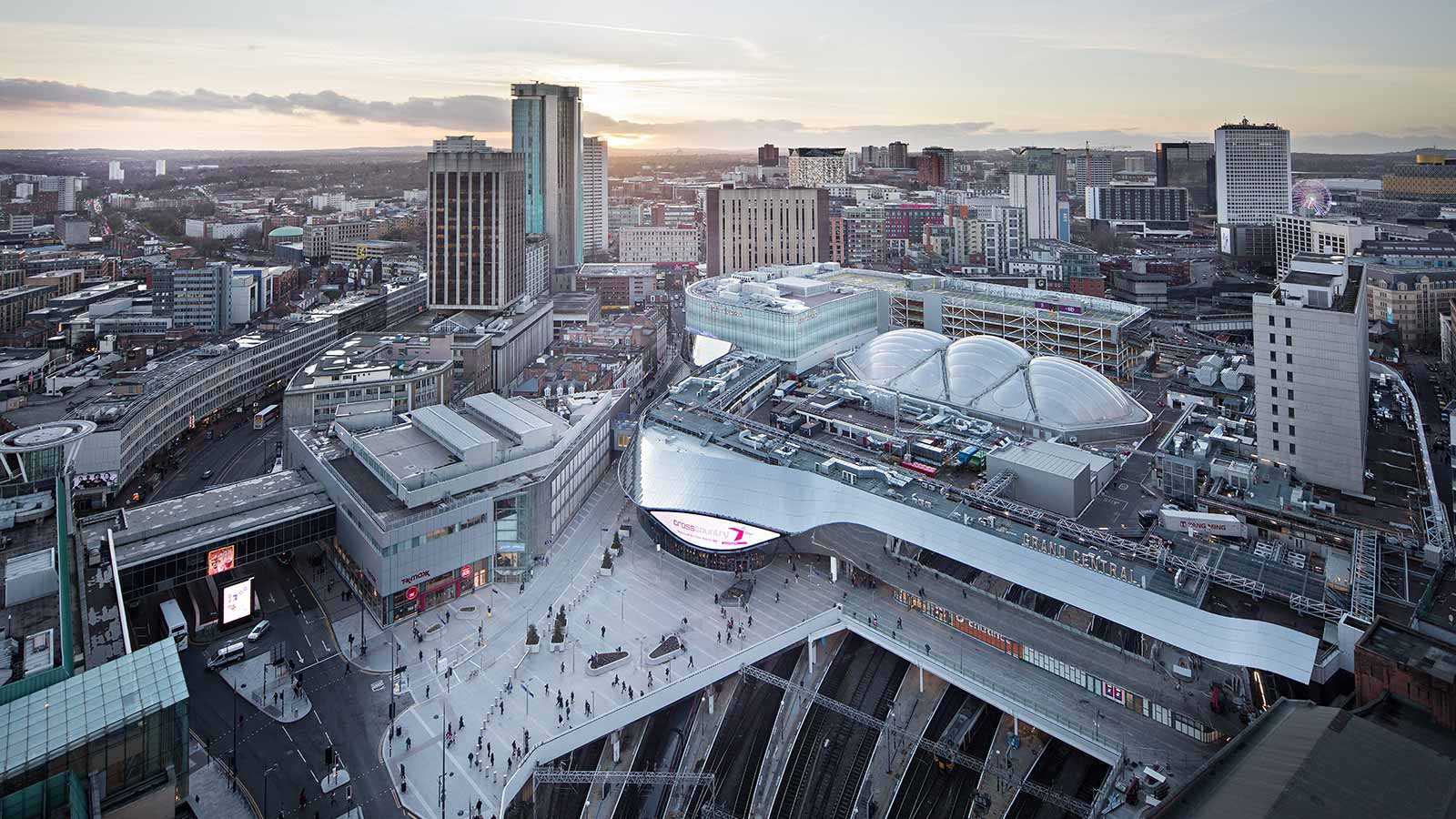 Birmingham New Street Station Aerial View - Mace Group