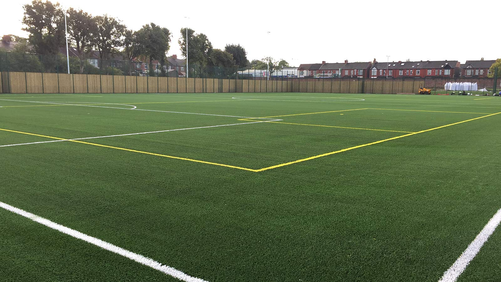 Astroturf footbal pitch