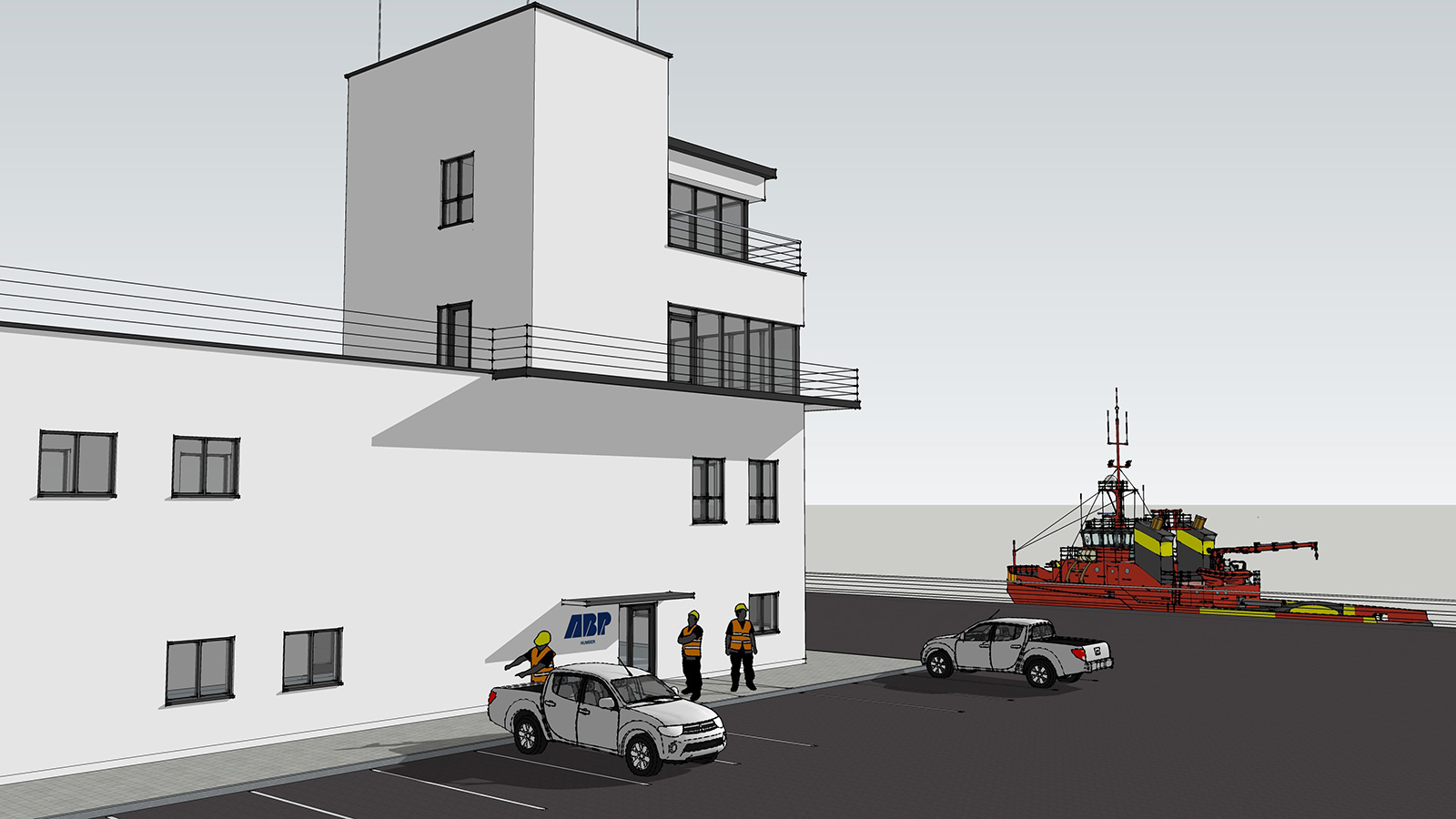 Architect's drawing of Humber Marine Control Centre
