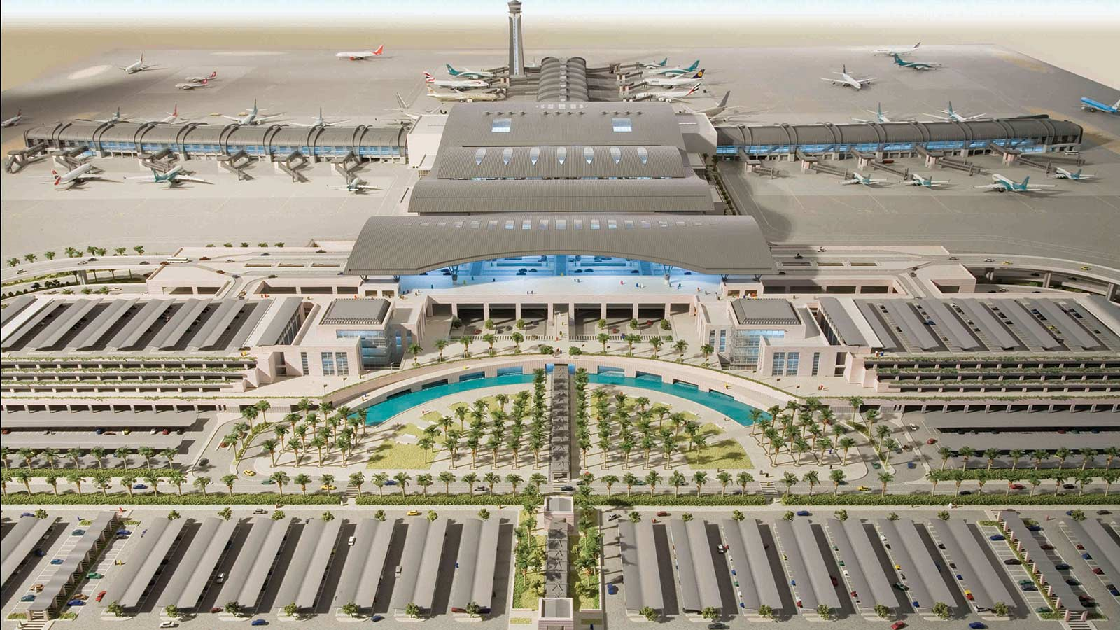 CGI of new Oman Airport