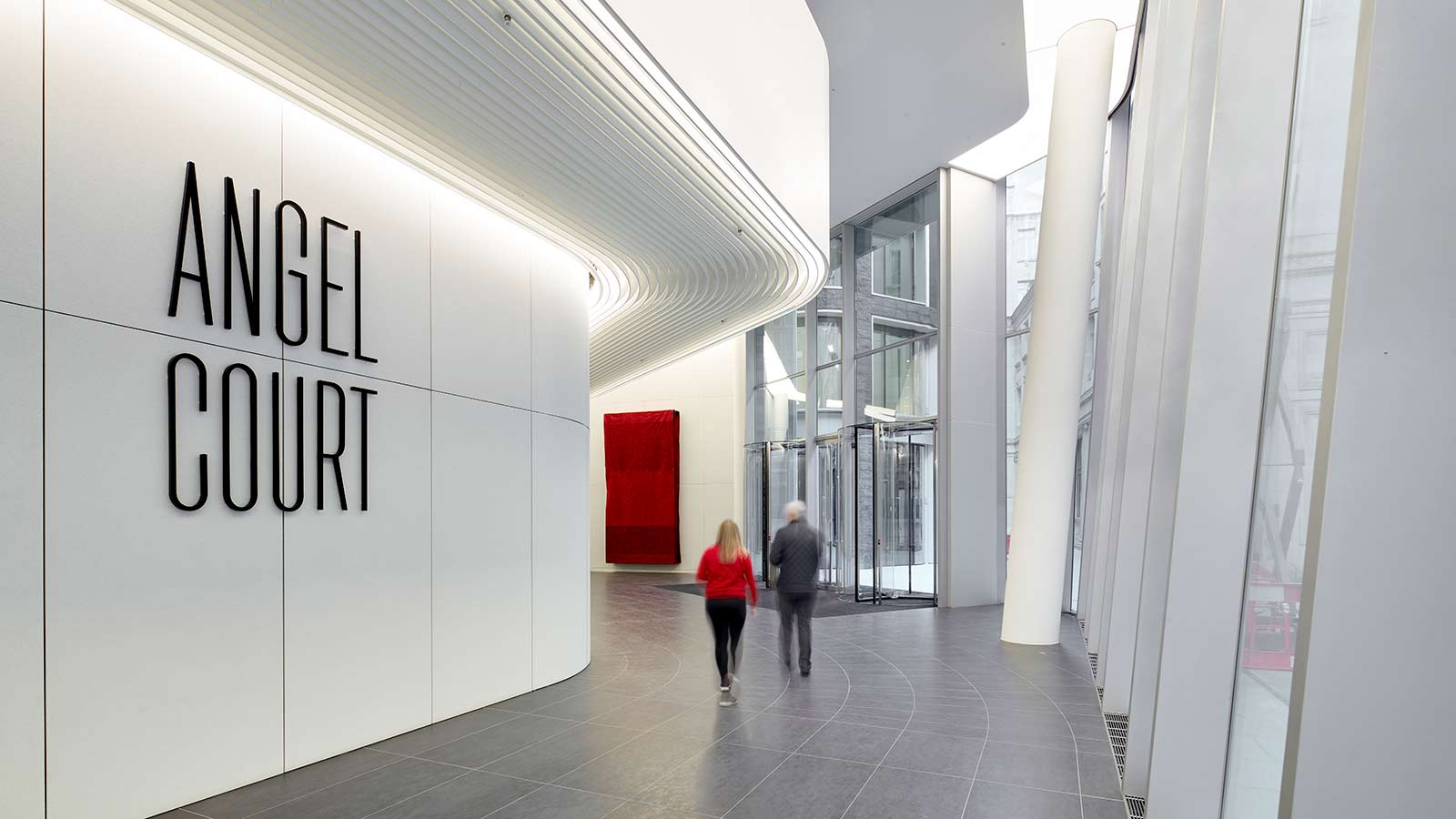 One Angel Court interior entrance