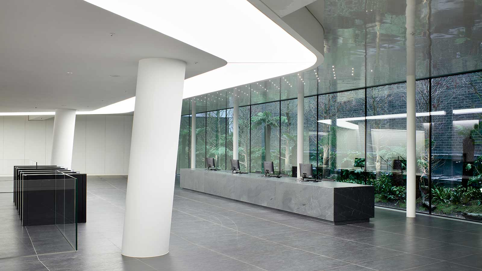 Reception area of One Angel Court